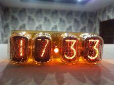 4xIN-12 Nixie Tubes Clock retro watch yellow
