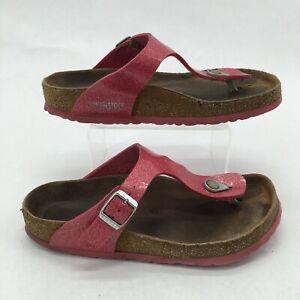 Birkenstock Gizeh Cosmic Sparkle Casual Thong Sandals Womens 38 Birko-Flor Pink