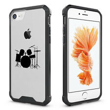For Apple iPhone X 6 6s 7 8 Plus Clear Shockproof Bumper Case Cover Drum Set