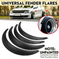 4pcs Universel Voiture Roue Sourcil Garde Boue Fender Flares Élargisseurs d'aile