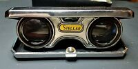 Vintage Stellar Sport Pocket Binoculars Opera Glasses LENS 2.5x Folding Japan