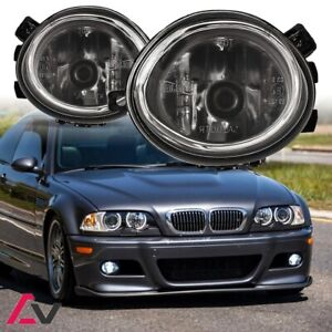 01-05 For BMW E46 Clear Lens Pair Bumper Fog Light Lamp OE Replacement DOT Bulb