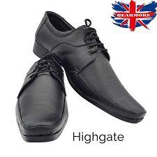 Zapatos para hombre nuevo Negro De Cuero Sin Cordones Formal Inteligente todo tamaño de Reino Unido traje de boda