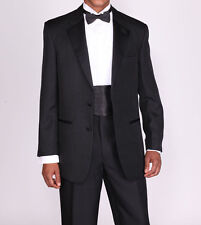 Men's Highly Stylish and Fashionable Tuxedo Suit with Pants Black White T702