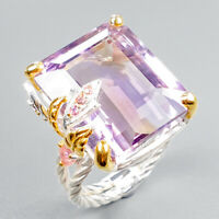 34ct IF Recommend Natural Ametrine 925 Sterling Silver Ring Size 8/R122485