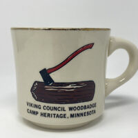 Vintage Wood Badge Camp Minnesota Council Boy Scouts of America Coffee Mug Cup
