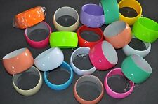 GREAT LOT 20CT assorted Bangle/Acrylic MIXED colored BRACELETS/Brand New