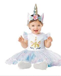 Unicorn Girls Infant Baby Halloween Costume Dress Headband Magical Birthday New