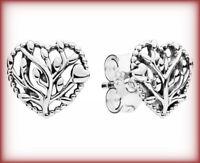 Genuine PANDORA FLOURISHING HEARTS STUD EARRINGS Silver S925 ALE 297085 RRP £30