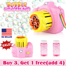 Toys for kids boys girls Automatic Bubble Machine with liquid