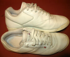 REEBOK Classic Women 8) M White Leather Cross Trainer 904 Shoe LightWeight Sport