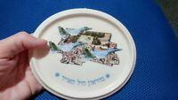 Israel Ceramic Plate VTG Israel Army Wall Hanging 80th
