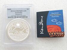 2009 Australia Kangaroo $1 One Dollar Silver Proof 1oz Coin PCGS PR70 DCAM