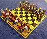 Schachspiel,Künstlerarbeit,ca 1960,Keramik od. Masse,farbig,