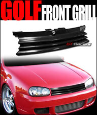 FOR 1999-2005 MK4 GOLF GTi GLOSS BLK FRONT BADGELESS GRILL GRILLE w/NOTCH FILLER