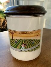 """Villeroy & Boch ~ DESIGN NAIF ~ Canister Village Farm House People 5.25""""h  3.75"""""""