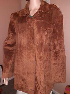 Rogers + Rogers Vintage Women's Suede Effect Jacket,  Size 22, Blu397