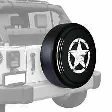 Oscar Mike Star - Painted  Tire Cover - Jeep Wrangler - Rhino