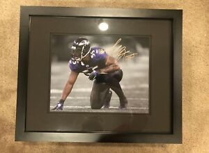 Terrell Suggs Baltimore Ravens Autographed 11x14 Photo (Framed)