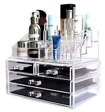 Cosmetic Makeup Jewelry Beauty Acrylic Case Drawer Tray Storage Organizer -NEW