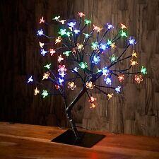 Multi Coloured Modern 72 LED Cherry Blossom Bonsai Tree Table Lamp Fairy Lights