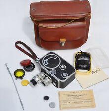 Camera Paillard Bolex B8 & accessoires, Cellophot & lentilles- Années 1950'