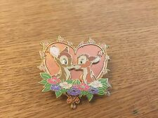 DISNEY STORE EUROPE PIN BAMBI & FALINE IN A HEART VALENTINES LE 500 PIN