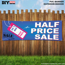 HALF PRICE SALE TAG 50 % OFF Shop Large Indoor and Outdoor PVC Banner Sign 1923