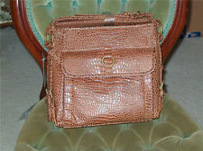 Coldwater Creek Brown ORGANIZER HANDBAG PURSE faux leather Tote ~ New
