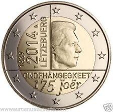 Pièce 2 euros commémorative LUXEMBOURG 2014 - 175ans Indépendance du Luxembourg