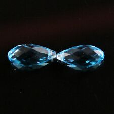 4pcs 10X20mm Swaro-element Teardrop  crystal beads A sky-blue