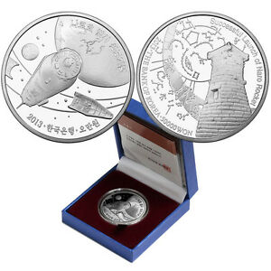 Korea 2013, Successful Launch of Naro Rocket 50000Won Silver Proof, w/box+COA