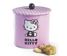 Ufficiale Hello Kitty BISCUIT Barrel COOKIE TIN stoccaggio contenitore rosa regalo UK