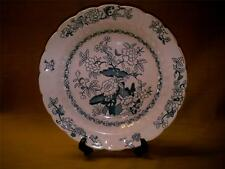 Vintage Booths Silicon China Lg Soup Plate-Pompadour-Blue & White-Made 1907-1920