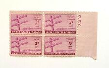 1944 3-Cent US Stamp Centenary of the Telegraph Issue - Block of 4 Stamps