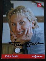 Handsignierte AK Autogrammkarte *PETRA BEHLE* Olympia GOLD Nagano 1998 Biathlon
