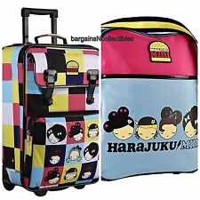 "NEW HARAJUKU MINI LOVER 21"" ROLLING LUGGAGE SUITCASE TRAVEL & COSMETIC BAGS 3 PC"