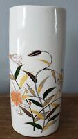 """Otagiri Japan 8"""" Gold Rimmed Porcelain Vase Lily Floral"""