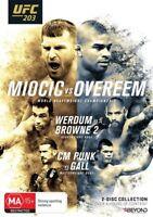 UFC #203 - Miocic Vs Overeem (DVD, 2017, 2-Disc Set) New   Region 4