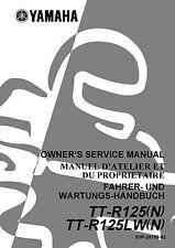 Yamaha owners service manual 2001 TTR 125, TT-R125(N), TT-R125LW(N)
