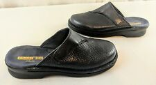 Clarks Collection Soft Cushion Women's Navy Blue Leather Clogs Size 7M  #22545