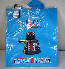 DOCTOR WHO DALEK BRITISH INVASION BLUE TOTE BAG BRAND NEW GREAT GIFT (S2)