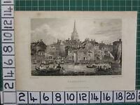 1828 Datierter Antik Aufdruck ~ Gravesend