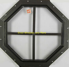 """Octagon Shed Window 18"""" Brown Flush Mount, Playhouses Coops Tree House Sheds"""
