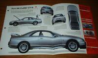 "★★1998 NISSAN SKYLINE GT-R ORIGINAL IMP BROCHURE SPECS INFO 98 GTR ""GODZILLA""★★"