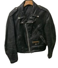 VTG Schott Perfecto Men's Motorcycle Leather Distressed Jacket See Size Lengths