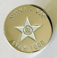 Mona Vie Star 1000 Pin Badge Rare Vintage (F7)