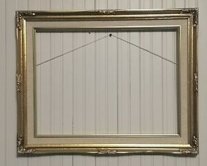 vintage ornate style gold swept picture/painting frame 12 x 16