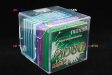 MAXELL AND TDK MINIDISCS 10 NEW BLANK DISC'S WITH STORAGE CUBE.....