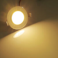 10PCS 3W Dimmbar LED Einbaustrahler Einbau Deckenleuchte Spot+ Treiber Warmweiß